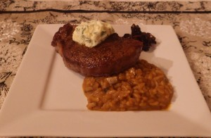 Steak with Risotto