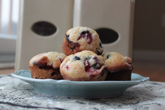 mixed berry muffins 1