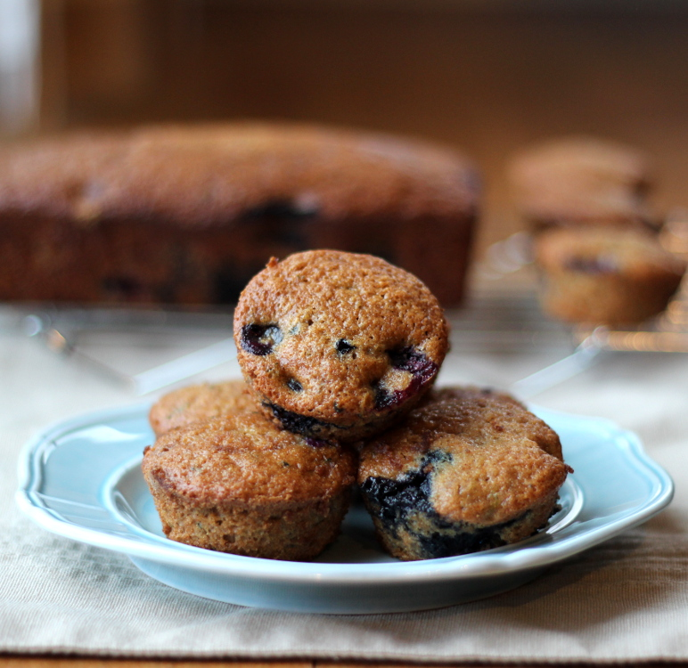 Zucchini Blueberry Muffins with Applesauce
