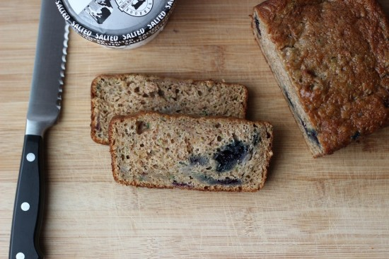 zucchini bread with blueberries and applesauce