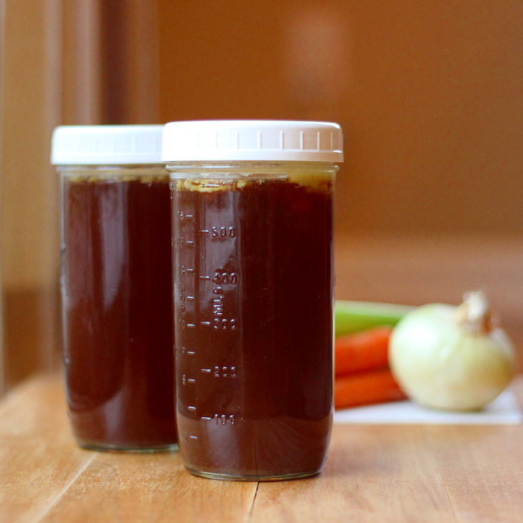 Homemade Beef Stock Jars
