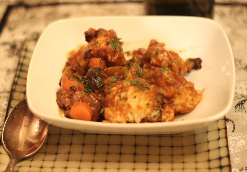Leftover standing rib roast stew