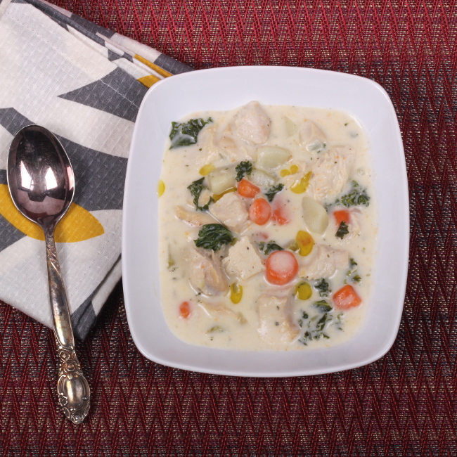 Chicken and Roasted Garlic Chowder