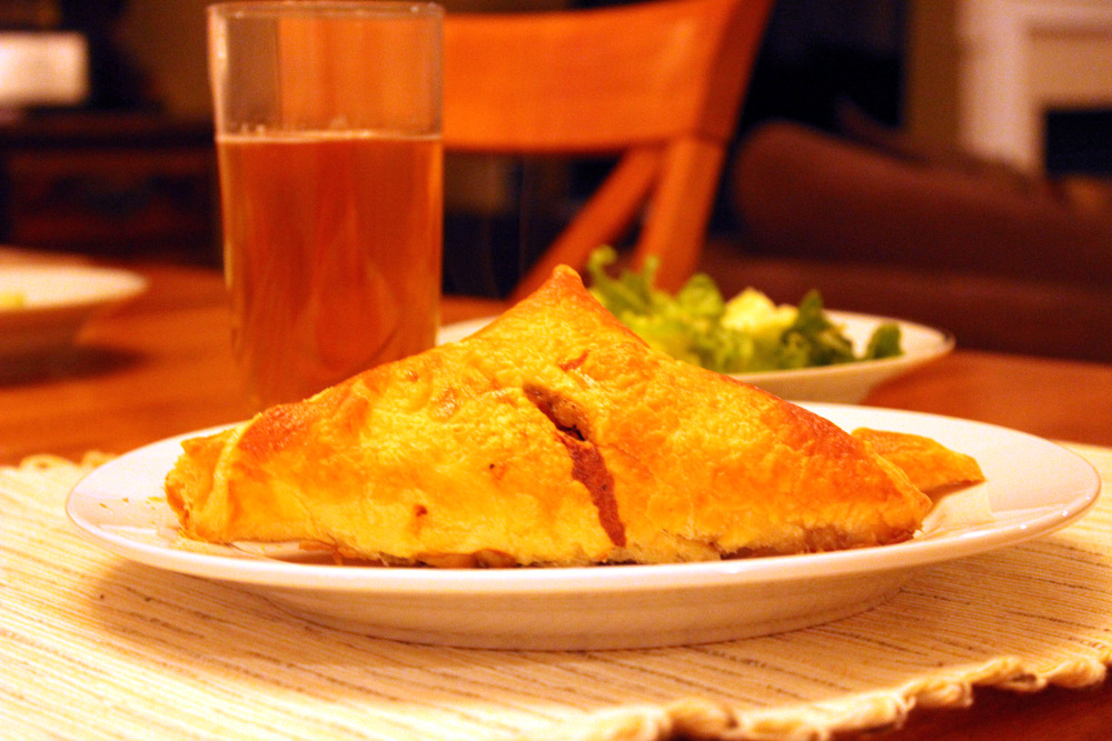 Easy Chicken Pot Pie Turnovers With Puff Pastry Dough Recipe