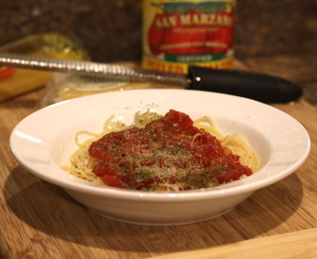 San Marzano tomato sauce - Quick recipe