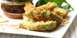 Baked Avocado Fries Recipe and Homemade Sriracha Mayo