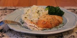 Oven Roasted Chicken Breast With Mashed Potatoes