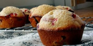 Strawberry Lemon Breakfast Muffins